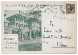 """Borgio Verezzi (Savona). Albergo E Pensione """"Villa Rose"""". - Savona"""