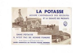 Buvard + PUBLICITE ILLUSTRATEUR JEAN STETTEN BERNARD ENGRAIS AGRICULTURE La POTASSE Mulhouse MINE - Agriculture