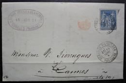 Sorgues-sur-l'Ouvèze Vaucluse 1881 Dumas Jeune Et Blanchon Minoterie, Lettre Facture Pour Cannes - 1877-1920: Semi Modern Period