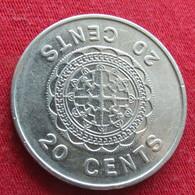 Solomon Islands 20 Cents 1989 KM# 28  Salomon Salomão - Solomon Islands