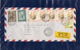 ##(DAN2107)-VATICAN CITY 1986-Airmail  Cover To New Norcia, Western Australia, Easter Airmail Cancel, Quality Label - Covers & Documents
