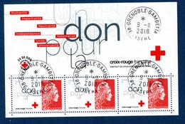 France 2018. Bloc Croix Rouge.Cachet Rond Gomme D'origine - Used