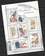 France 2016 Bloc Feuillet N° F5098 Neuf Plumes D'écriture Faciale + 10% - Neufs