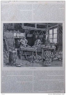 Le Sabotier - Page Original 1895 - Documenti Storici