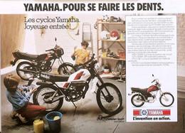 Publicité Papier MOTO YAMAHA RD50MX DT50MX 27X20 1982 SP1053489 - Publicités