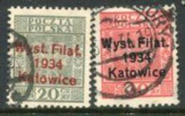 POLAND 1934 Katowice Philatelic Exhibition Used..  Michel 285-86 - Usados
