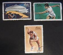 "CUBA YT 1340/1342 OBLITERES ""EVENEMENTS SPORTIFS"" ANNÉE 1969 - Used Stamps"