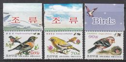 2012 North Korea Birds Oiseaux  Complete Set Of 3 MNH - Sperlingsvögel & Singvögel