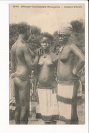 Carte  AFRIQUE OCCIDENTALE FRANCAISE Jeunes Ebriès ( Femme Nue )( Timbre Du Sénégal ) - Sénégal