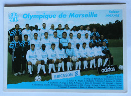 Carte Postale Saison 1997-1998 équipe OM Olympique De Marseille Ravanelli Makelele Laurent Blanc - Football