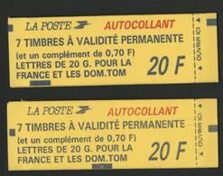 N° 1503 C + 1503 2 Carnets Fermés Marianne De Briat Cote 83 € Vendus à La Valeur D'affranchissement TB Voir Description - Standaardgebruik