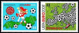 Soccer Football 2008 Austria #2709/10 UEFA European Championship MNH ** - Eurocopa (UEFA)