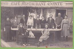 RARE !! TOP !! CPA Carte Photo FIGEAC Café Restaurant CONTE Animé Photographie Honoré VOIR DESCRIPTIONS SVP ! 46 LOT - Figeac