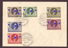 Deutsches Reich SST Geburtstag Des Führers Amsterdam 1943 - Briefe U. Dokumente