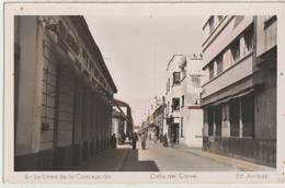 Tarjeta Postal   La Linea De La Concepcion  Calle Del Clavel   Tejidos Magasin    Ed Arribas N° 6 - Cádiz