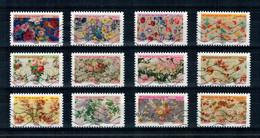 2021 SERIE MOTIF DE FLEURS OBLITEREE COMPLETE - Adhesive Stamps
