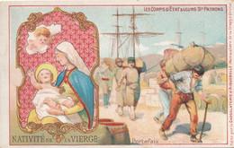 Chromo Publicitaire (7 X 11,5 Cm) - Natavité De La Vierge - Portefaix - Devotieprenten