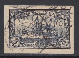 Caroline Islands, Scott 18, Used On Piece, Signed Bothe - Kolonie: Karolinen