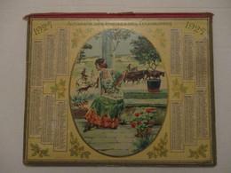 CALENDRIER ALMANACH DES POSTES ET TÉLÉGRAPHES 1927 CAMARGUE GARDIANS (?) MANCHE 50 - 26 X 21 CM - Big : 1921-40