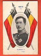 CAH-07  1914 Albert 1er, Roi Des Belges, En 1914. Circulé 1914 Vers La Suisse, Timbre Manque - Patriotic