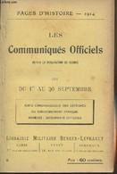 Pages D'Histoire - 1914 - 3e Série - N°8 - Les Communiqués Officiels Depuis La Déclaration De Guerre - III - Du 1er Au 3 - Guerra 1914-18