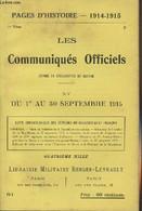 Pages D'Histoire - 1914-1915 - 3e Série - N°81 - Les Communiqués Officiels Depuis La Déclaration De Guerre - XV - Du 1er - Guerra 1914-18