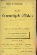 Pages D'Histoire - 1914 - 3e Série - N°18 - Les Communiqués Officiels Depuis La Déclaration De Guerre - V - Du 1er Au 31 - Guerra 1914-18