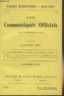 Pages D'Histoire - 1914-1917 - 3e Série - N°127 - Les Communiqués Officiels Depuis La Déclaration De Guerre - XXVII - Ja - Guerra 1914-18