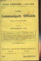 Pages D'Histoire - 1914-1916 - 3e Série - N°118 - Les Communiqués Officiels Depuis La Déclaration De Guerre - XXIII - Se - Guerra 1914-18