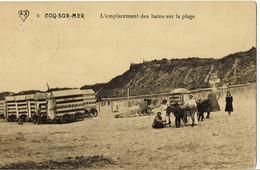 Coq-sur-Mer L'Emplacement Des Bains Sur La Plage Circulée En 1912 - De Haan