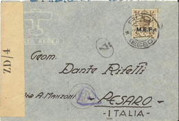 STORIA POSTALE Occupazione Inglese MEF Rodi Egeo 1945 (1247) - British Occ. MEF