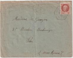 4369 Lettre Cover 1943 WW2 PETAIN La Tour Landry La Tourlandry Chemillé-en-Anjou Cachet Héxagonal Pau De Gouyon - 1921-1960: Periodo Moderno