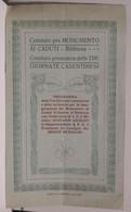 Italia Arezzo BIBBIENA Programma Delle 3 Giornate Casentinesi Inaugurazione Monumento Ai Cadduti In Guerra GIURIATI 1923 - Altri