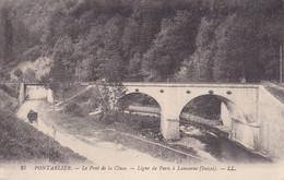 LE PONT DE LA CLUSE LIGNE DE PARIS à LAUSANNE  ( SUISSE ) + CALèCHE  éTAT NEUF - Pontarlier