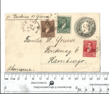 Argentina Buenos Aires To Hamburg Germany Dec 8 1897 Via The Steamship Duchessa Di Genova - Face Only............(Box 5) - Postal Stationery