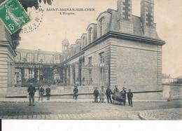 Saint Aignan Sur Cher (41 Loir Et Cher) L'hospice - édit. Cornu Rousseau Circulée 1913 Cachet Perlé De Mareuil - Saint Aignan
