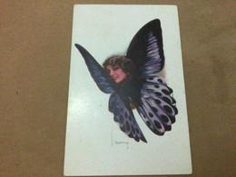 Illustrateur Usabal - Femme Papillon Violet - Usabal