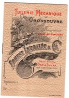TUILERIE MECANIQUE De GROSSOUVRE. Ernest LAVALLEE Et Cie. Carnet Avec Tarifs Et Produits - Werbung
