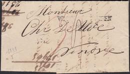 Wichlinghausen Barmen L3 1843 Nach NINOVE BELGIEN Mit Inhalt Selten  (27340 - Prussia