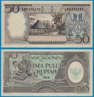 Indonesien - Indonesia 50 Rupiah Banknote 1964 Pick 96 AUNC (1-)      (22079 - Andere - Azië