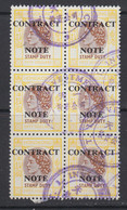 Hong Kong, Contract Note Revenue, BF 343G, Used Block - Other