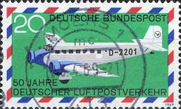 0911 Mi.Nr.576 BRD (1969) 50 Jahre Deutscher Luftpostverkehr Gestempelt - Usati
