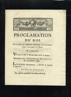 1929  Decret-167  Proclamation Du Roi Sur Les Haras  1790 - Decrees & Laws