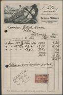 Belgique - Petite Facture Illustrée (Tournai 1924) F. Pottier Scies à Métaux - 1900 – 1949