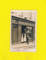17 PONS CARTE PHOTO F. DOUSSOUX COMMERCE ALCOOL CHAMPAGNE VIANDOX ... - Pons