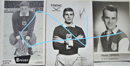 Cartesx3 RSCA Sporting ANDERLECHT 60's Martin LIPPENS VERBIEST Laurent VAN WELLE Pub PONTIAC Brésor Football - Unclassified