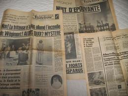"""SOUMAGNE - Incendie Du Château De Wégimont En 1964 - Journal """" La Meuse """" Du 27 Et 29 Mai  Et Du 1er Juin 1964 - 1950 - Heute"""