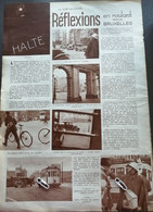 BRUXELLES.1934.HALTE RÉFLEXIONS EN ROULANT DANS BRUXELLES / TRAMWAYS / KALEIDOSCOPE VILLE BRUXELLES - Unclassified