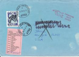 Croatia Cover Sent To USA Zagreb Aeroport 23-9-1994 And Returned 5-11-1994 Single Franked - Croatie