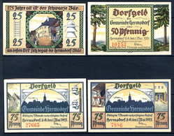 439-Hermsdorf 25, 50 Et 2x75pf 1922 - [11] Local Banknote Issues